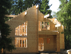 Строительство деревянного финского дома Москва