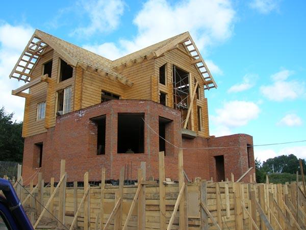 Строительство экодома, утепленного Эковатой: Строительство деревянного каркасного финского дома Московская область